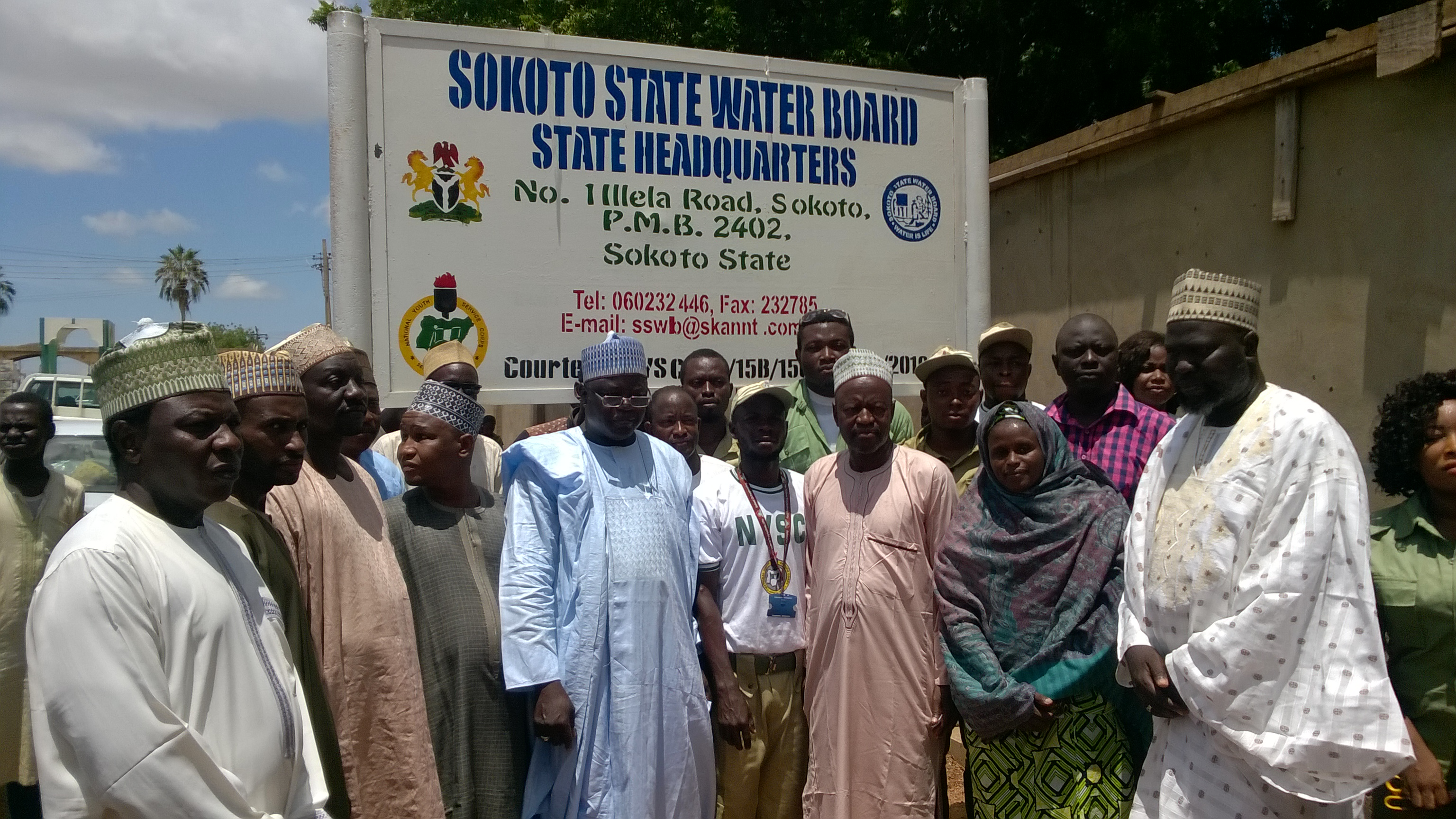 Bolaji constructs two signpost for Sokoto State Water Board
