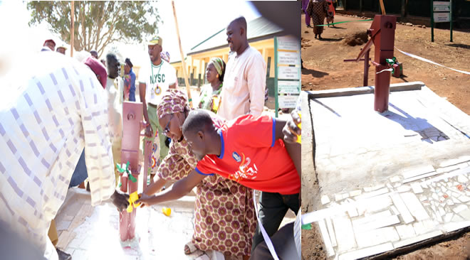 Eneji Stephen and Gloria adibe provides portable water, free medical counseling in Plateau