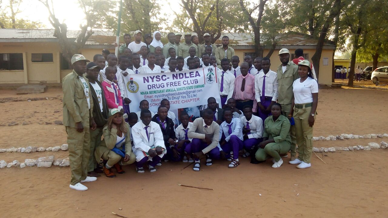 No to drug abuse: NDLEA/Drug free Club sensitizes Sani Dingyadi School