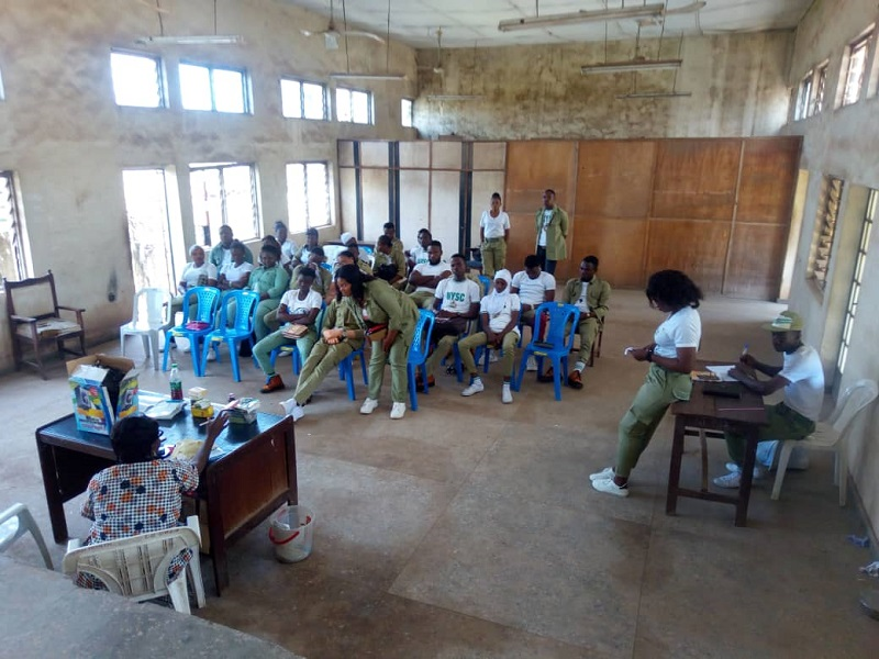 Sensitization program by Corp Members on the Effect of Drug Abuse