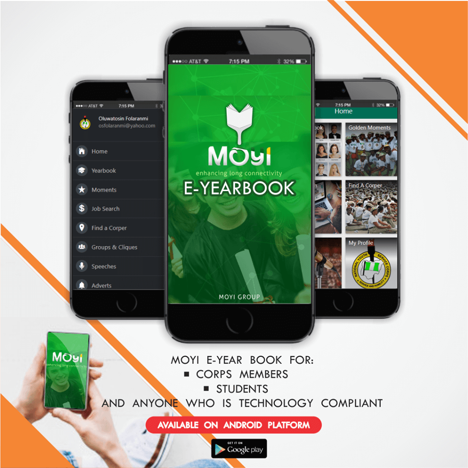 Moyi NYSC App - a vital Android Mobile App for Every Corps Member