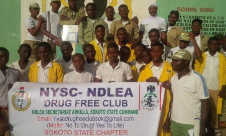 NDLEA/DRUG Free Club Sensitizes Government Technical College Farufaru
