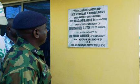 Agarawa Kayode Builds Medical Lab in Osun Camp