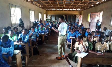 Edo Corps Members Sensitize Students