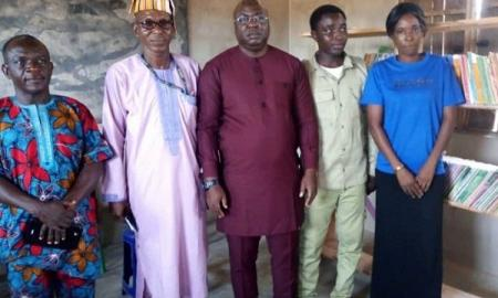 NYSC Member Donates Library to Host Community