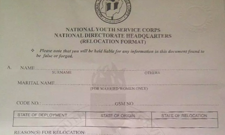 How to apply for NYSC Redeployment Relocation