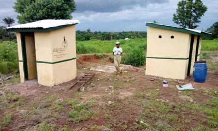 Anyaogu Rejoice Builds Toilet for Host Community in Taraba State